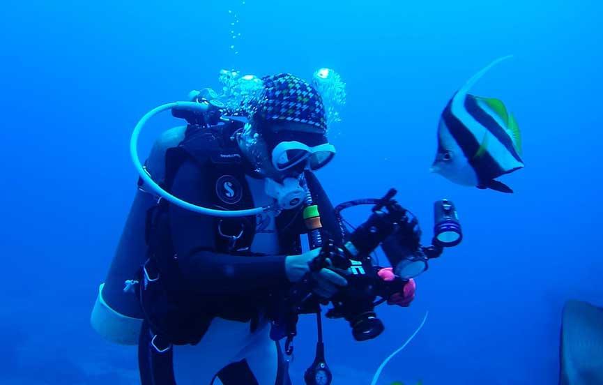 Scuba diving in the Indian Ocean