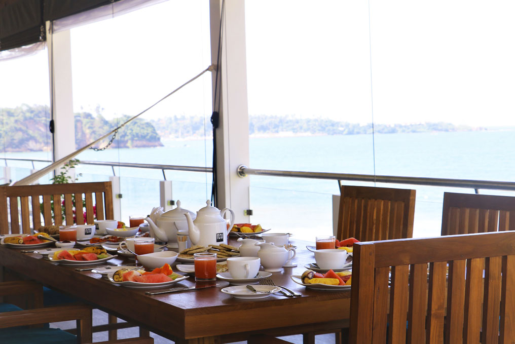 Tea at the Ocean Suite balcony