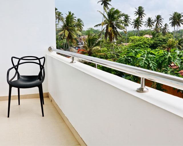 A panoramic view from the balcony