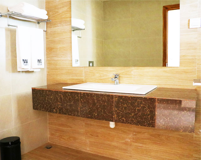 The attached bathroom of the standard room