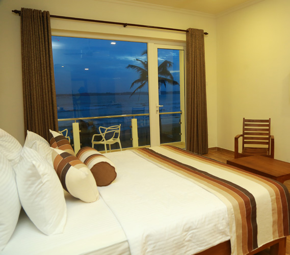 Oceanfront superior rooms at Twenty-Two Weligambay