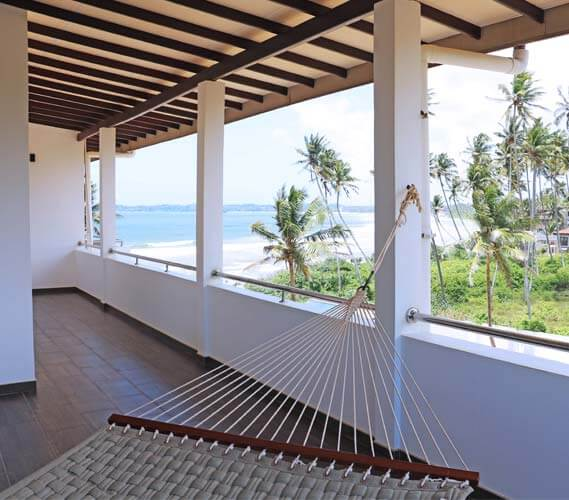 The large balcony with a hammock