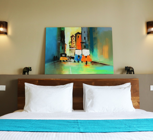 Two bedroom oceanfront suites at Weligama