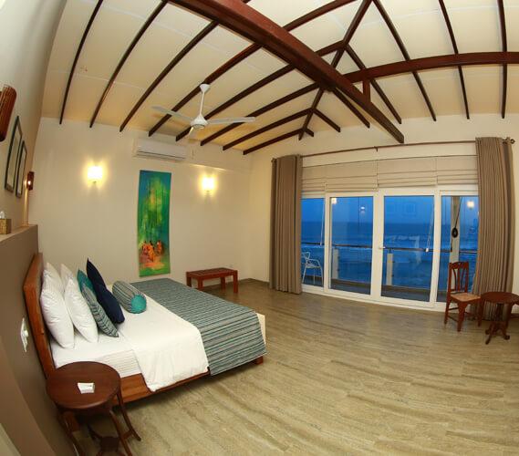 Main bedroom of the ocean suite