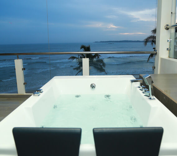 The ocean view from the Jacuzzi