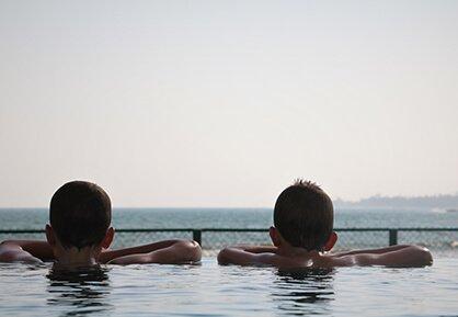 Infinite pool at Twenty Two Weligambay Hotel